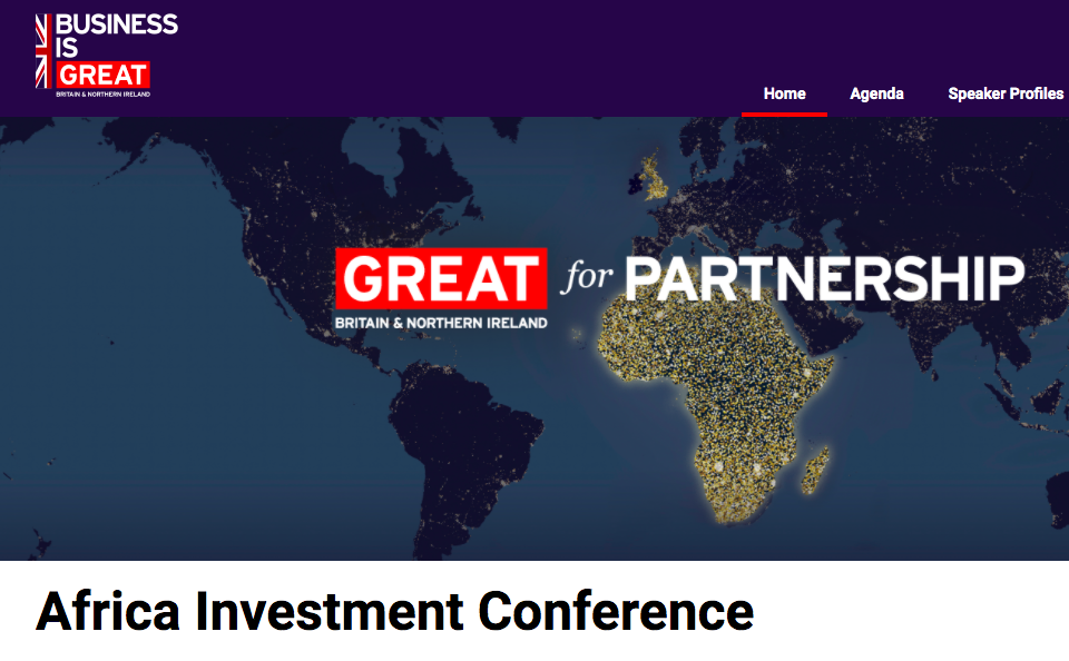UK-Africa Investment Conference January 20, 2021