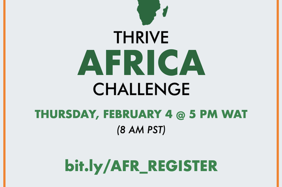 USA THRIVE AFRICA Challenge 2021